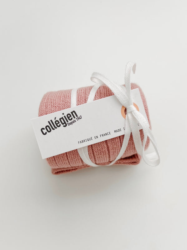 Collégien // Collegien Ribbed Knee Socks in Rose Quartz - All The Little Bows