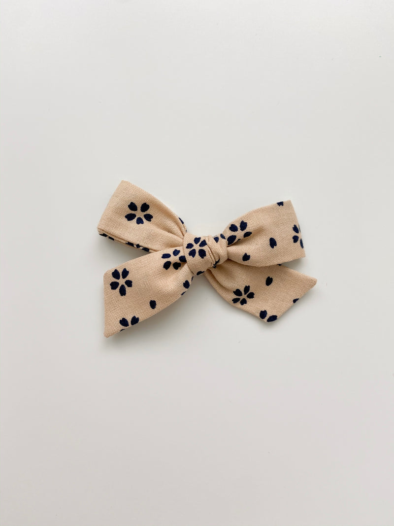 All The Little Bows // Classic Bow | Ink Blot Floral - All The Little Bows