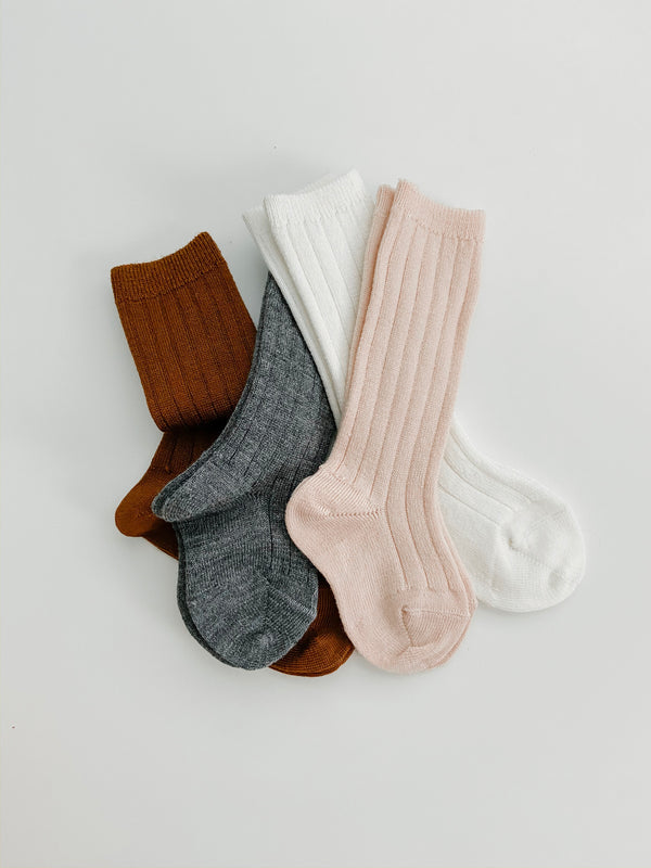Condor // Wool Knee Socks // Grey - All The Little Bows