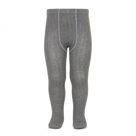 Condor // Classic Ribbed Tights // Grey - Cóndor 230 - All The Little Bows