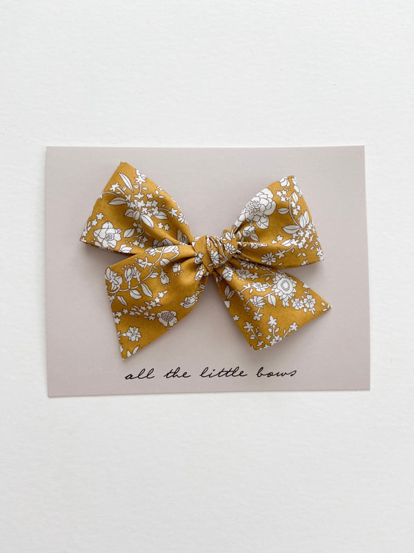 "All The Little Bows // ""Golden Meadow"" Pinwheel Bow - All The Little Bows"
