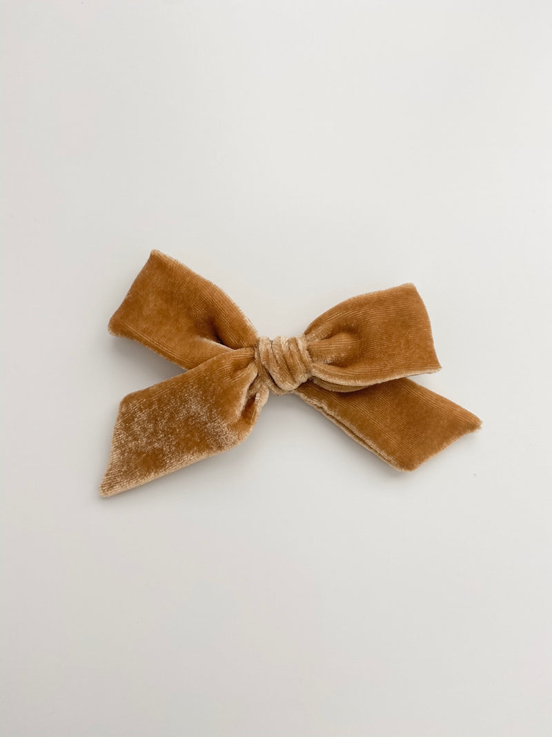 All The Little Bows // Velvet Bow | Antique Gold - All The Little Bows