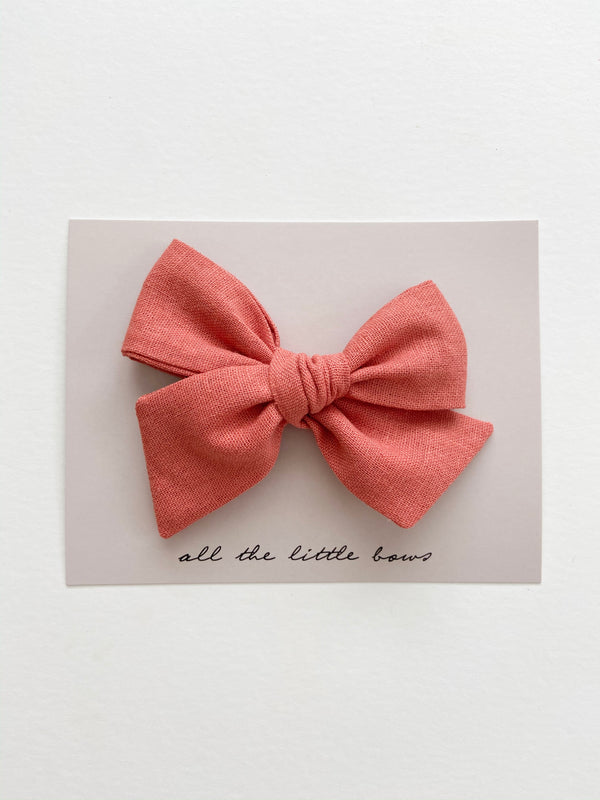 "All The Little Bows // ""Rhubarb"" Pinwheel Bow - All The Little Bows"