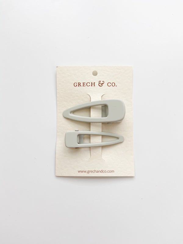 Grech & Co // Matte Clips, Set of Two // Buff - All The Little Bows