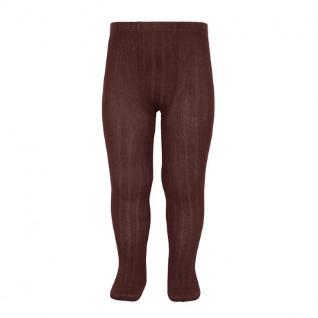Condor // Classic Ribbed Tights // Wine - Cóndor 385 - All The Little Bows