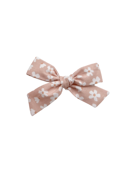All The Little Bows // Classic Bow | Daisies on Pale Pink - All The Little Bows