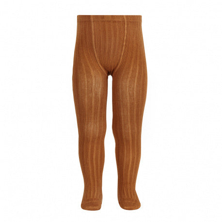 Condor // Classic Ribbed Tights // Cinnamon - Cóndor 688 - All The Little Bows