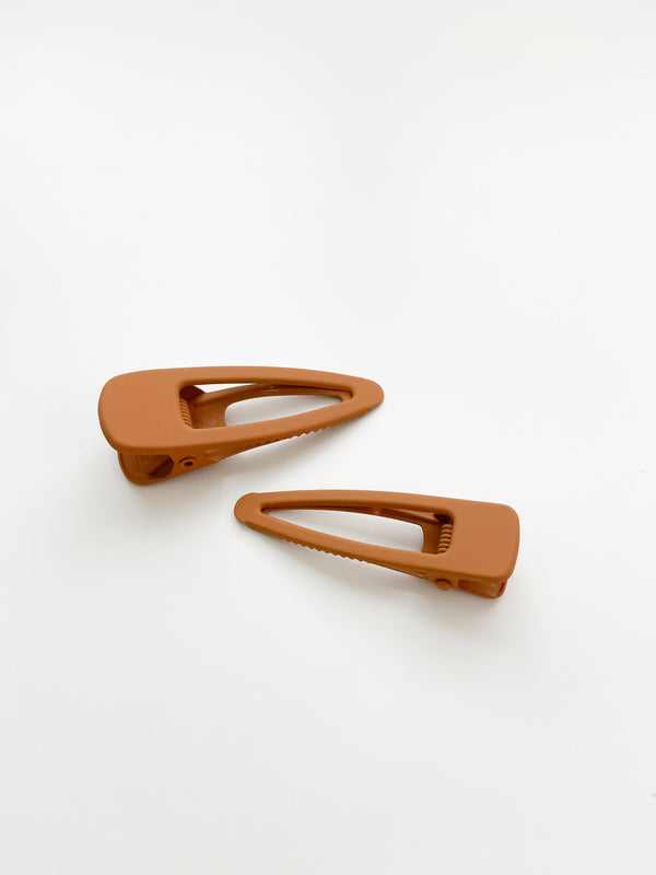 Grech & Co // Matte Clips, Set of Two // Spice - All The Little Bows