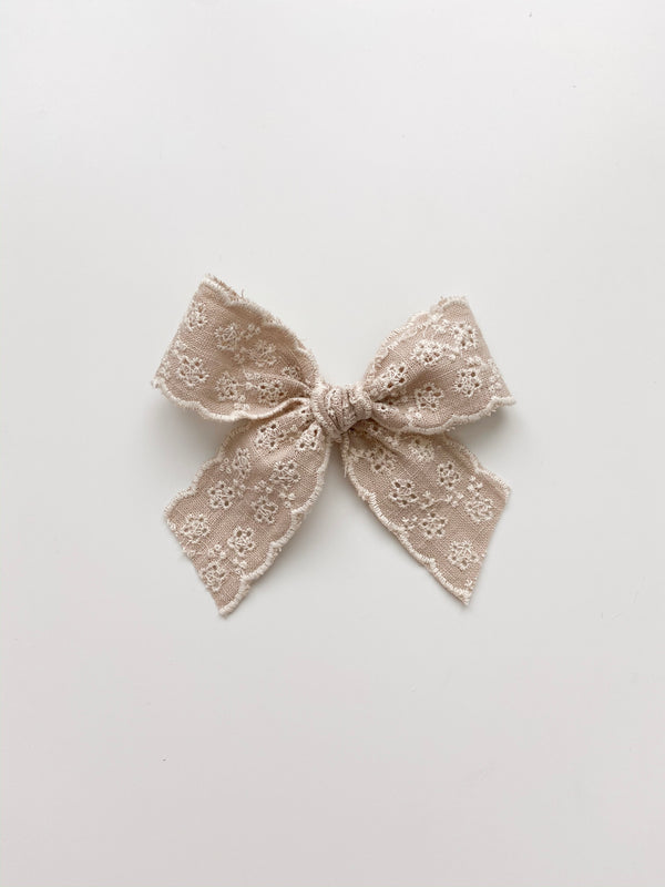 "All The Little Bows // ""Eliza"" Lace Bow Clip - All The Little Bows"