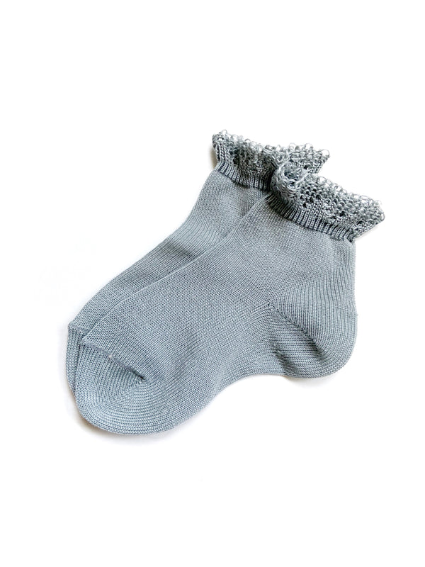 Condor // Frill Ankle Socks - Mist - All The Little Bows