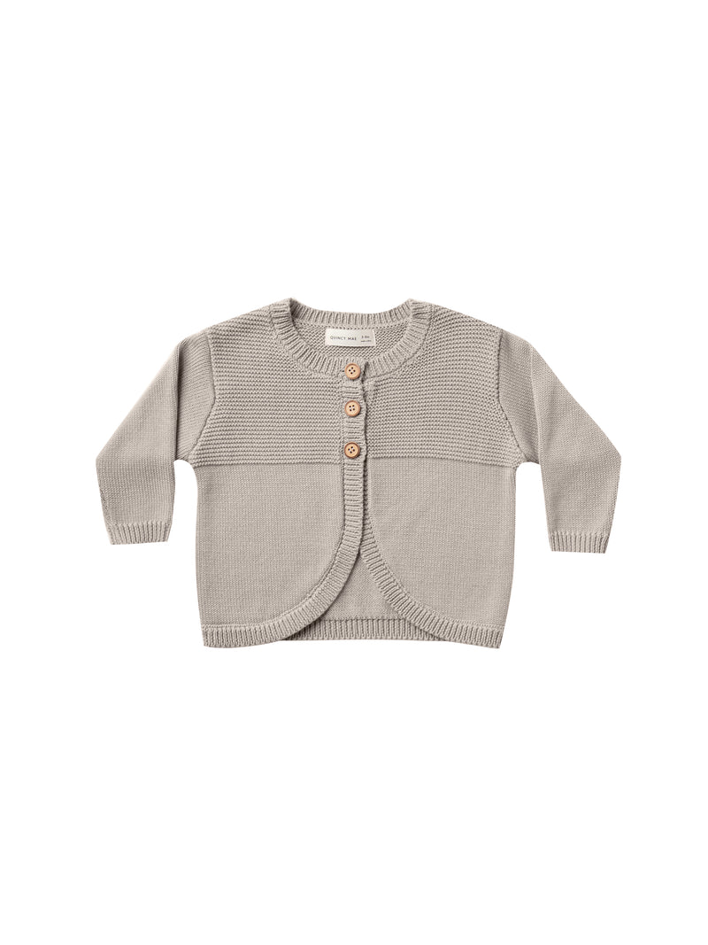Quincy Mae // knit cardigan | fog - All The Little Bows