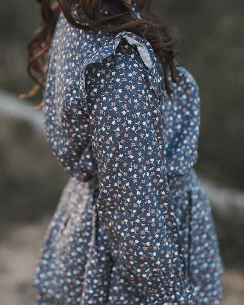 Rylee + Cru // ditsy roony blouse in washed indigo - All The Little Bows