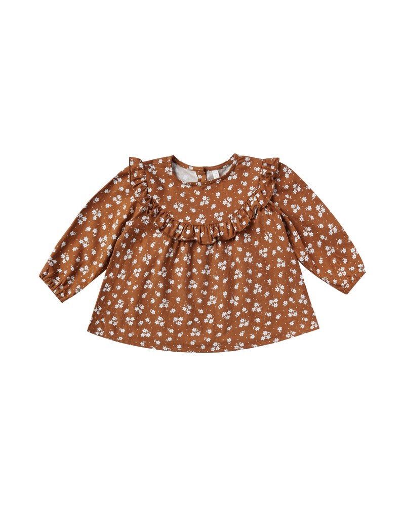 Rylee + Cru // ditsy victoria blouse in cinnamon - All The Little Bows