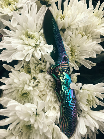 RAINBOW ROSE KNIFE
