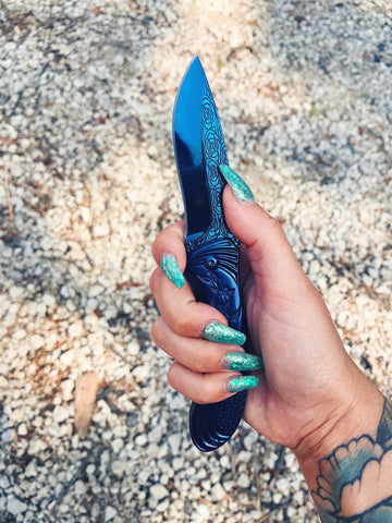 BLUE ROSE KNIFE