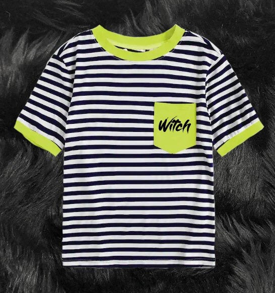 Halloween stripe tees