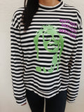 Beetlejuice striped sweater