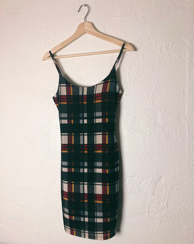 Flannel bodycon dress