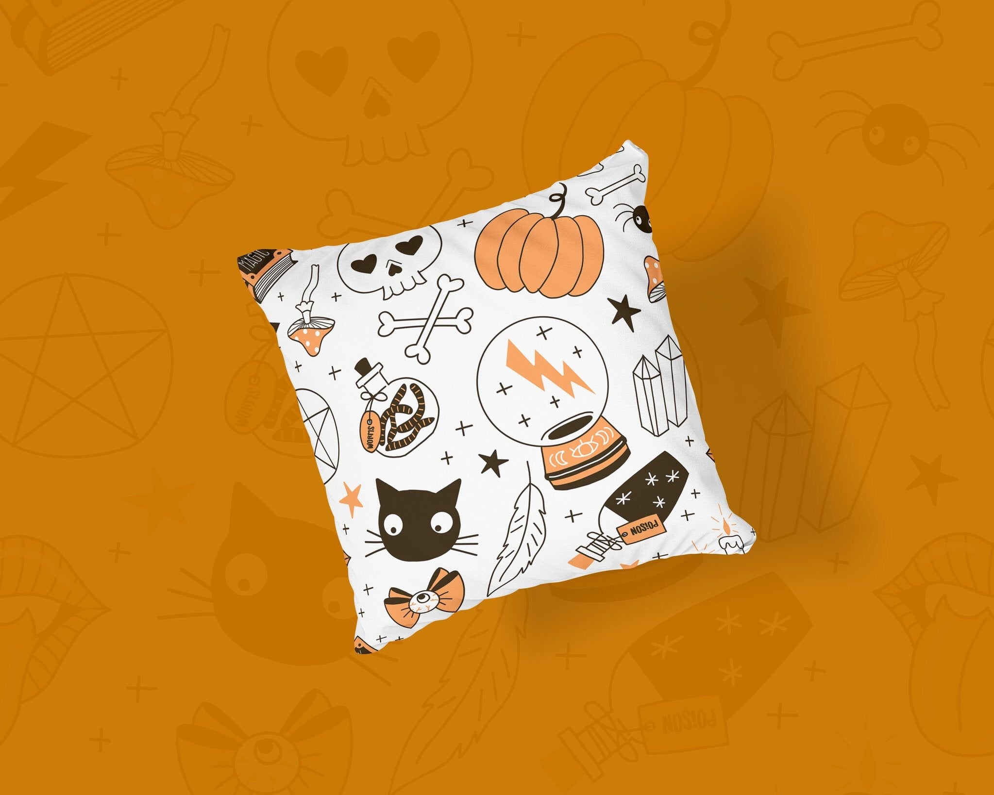 Spooky But Cute Pillow