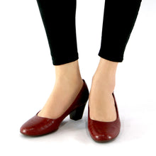 Red Croco Pumps for Womens (110.110) - SIMPLY SHOES HONG KONG