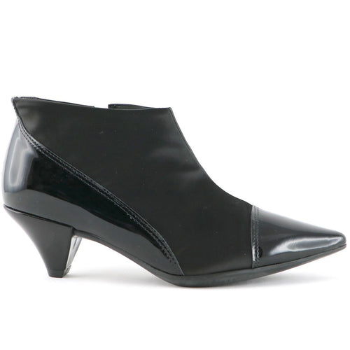 Black Patent Ankle Boots for Women (119.013) - SIMPLY SHOES HONG KONG