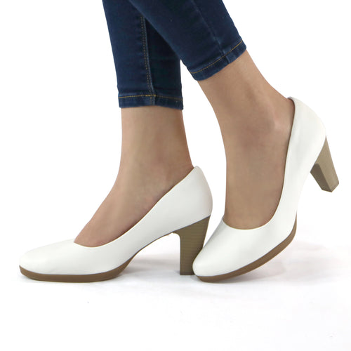 White Pumps for Women (130.136) - SIMPLY SHOES HONG KONG