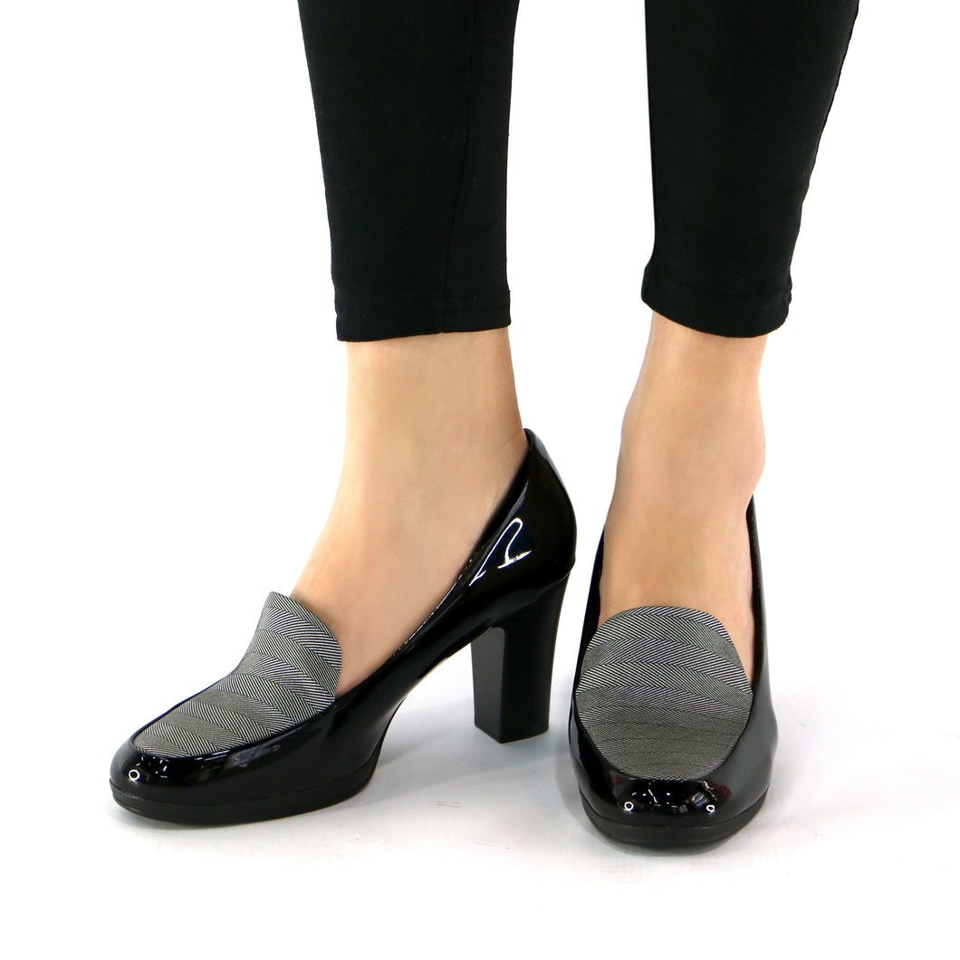 Black/Grafite Pumps for Womens (130.189) - SIMPLY SHOES HONG KONG