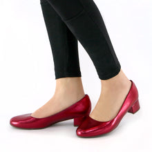Red Metallic Pumps for Womens (140.110) - SIMPLY SHOES HONG KONG