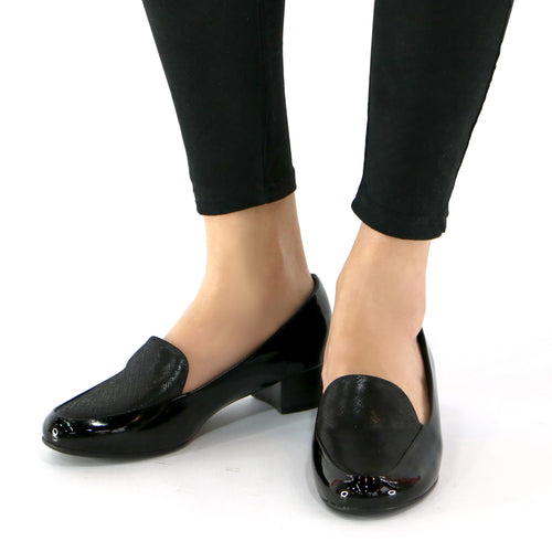 Black Pat Women's Pumps (140.105) - SIMPLY SHOES HONG KONG