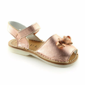Metallic Pink Leather sandal (SS-7005) - SIMPLY SHOES HONG KONG