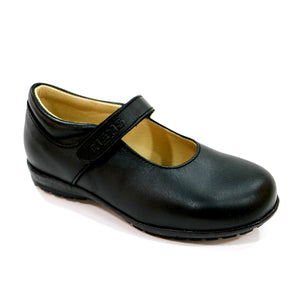 BLACK NAPA LEATHER SCHOOL SHOE (SS-7046) - SIMPLY SHOES HONG KONG
