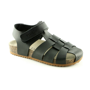 Classic Black Leather boys Sandals (SS-8003) - SIMPLY SHOES HONG KONG