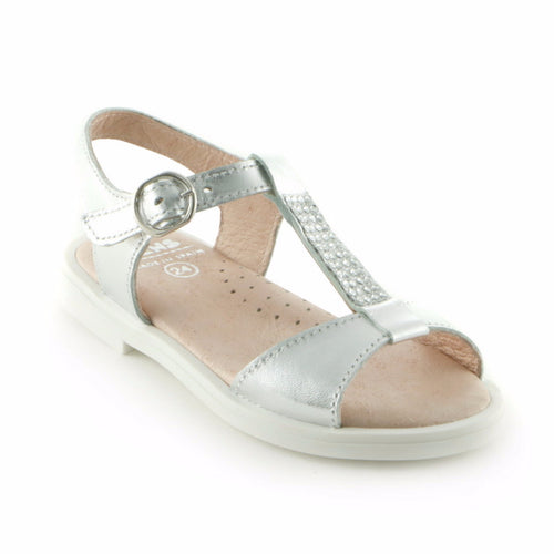 Silver Bling Leather girls sandal (SS-7040) - SIMPLY SHOES HONG KONG