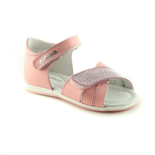 Pink Bling Leather sandal (SS-7019) - SIMPLY SHOES HONG KONG