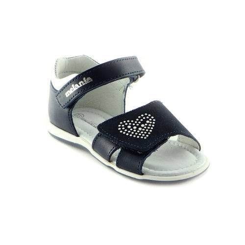 Deep Navy Leather Sandals (SS-7026) - SIMPLY SHOES HONG KONG