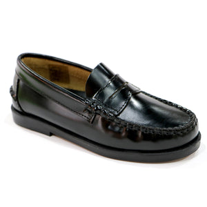 Black Leather Shoes (SS-8019) - Simply Shoes Hong Kong