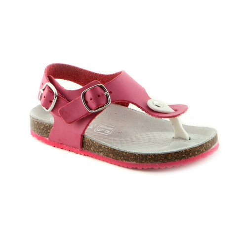 Bright Fuxia Leather Sandal (SS-7007) - SIMPLY SHOES HONG KONG