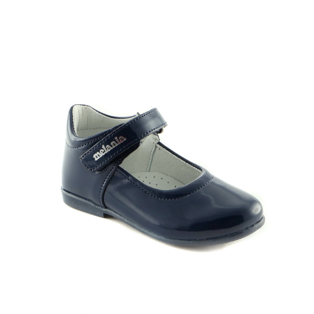 Patent Navy Leather girls ballerina shoe (SS-7012)
