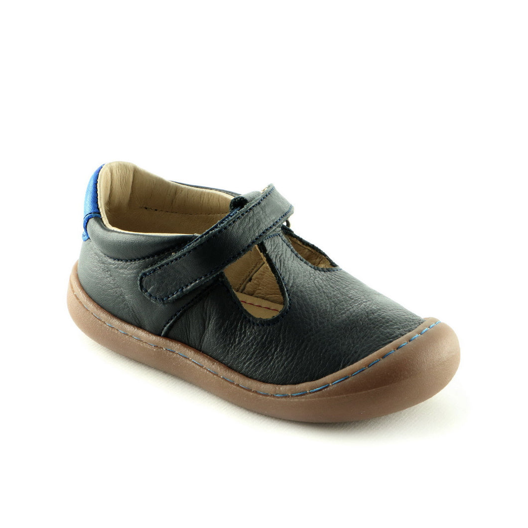 Navy Leather Shoe (SS-7024)