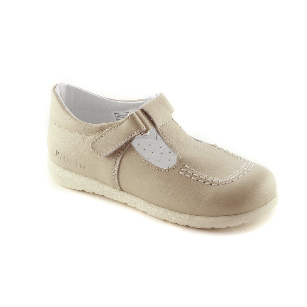 Matt Beige Leather ballerina shoe (SS-7020)