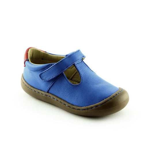 Royal Blue Leather Shoes (SS-7042)