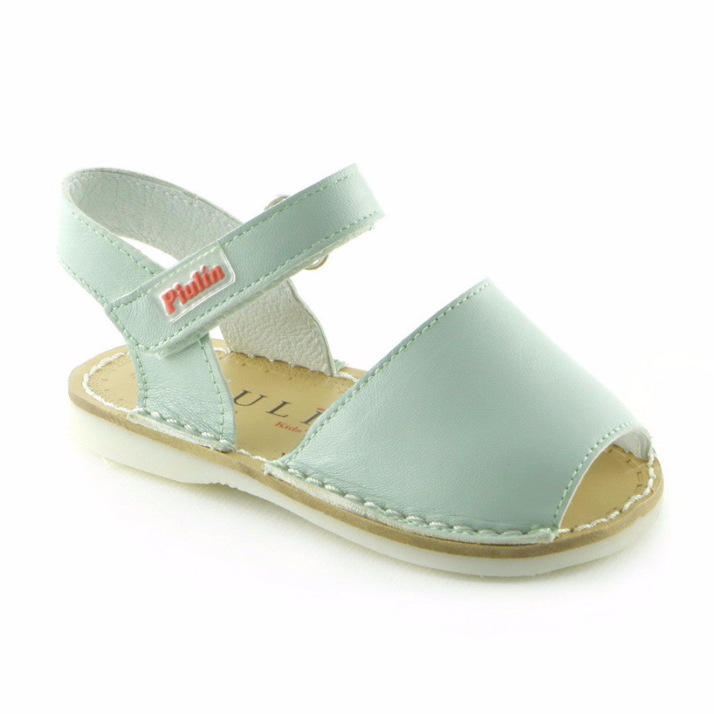 Soothing Green Leather infant girls sandal (SS-7043)