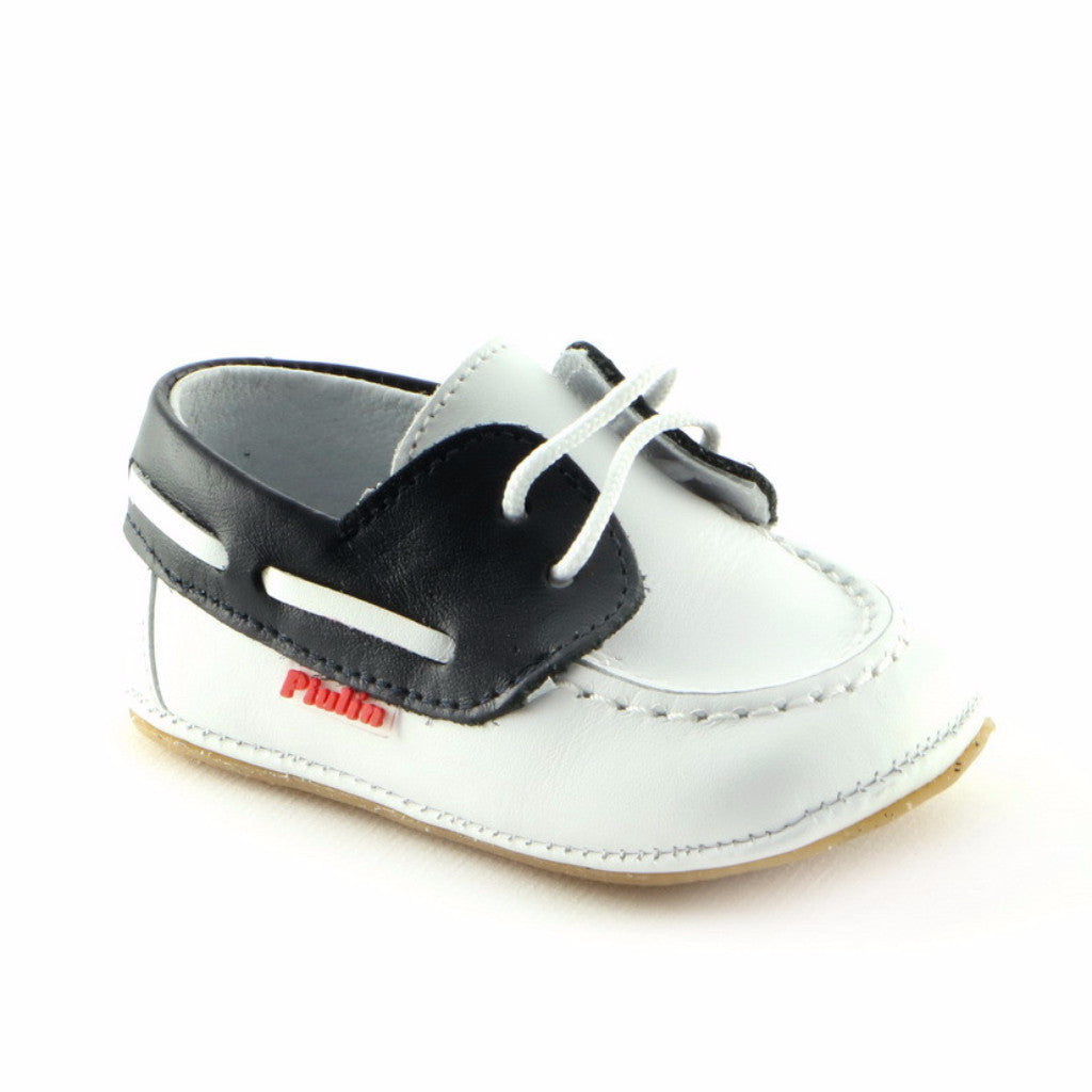 White Combo Leather infant shoe (SS-8002) - SIMPLY SHOES HONG KONG
