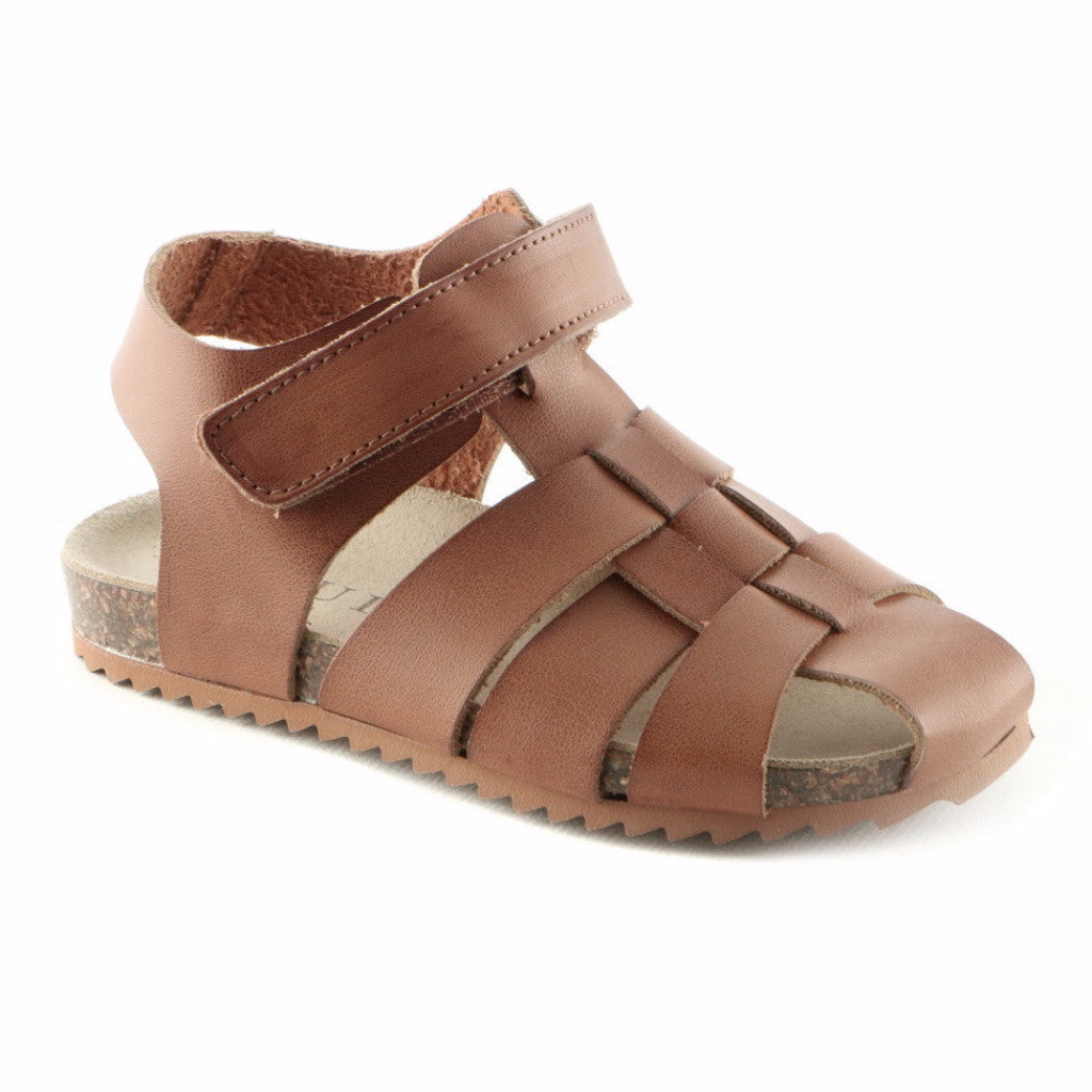 Classic Brown Leather Boys Sandals (SS-8014)