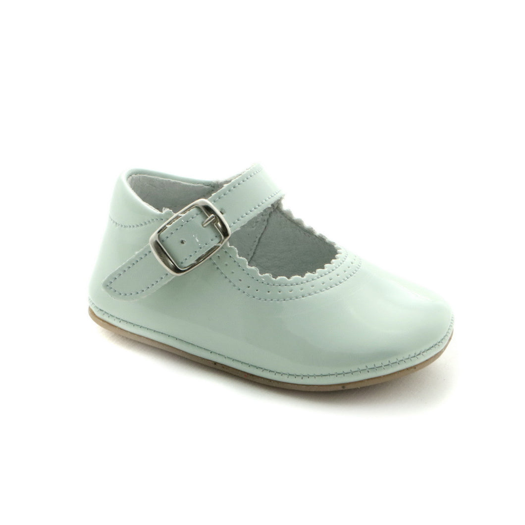 Spirit Green Leather Infants Mary Jane (SS-7023) - SIMPLY SHOES HONG KONG