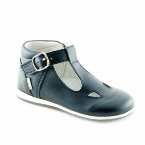 Wonderful Navy Leather shoe (SS-7028) - SIMPLY SHOES HONG KONG