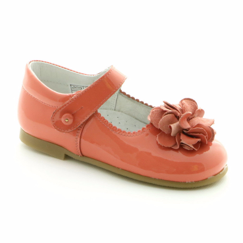 Patent Peach Leather ballerina shoe (SS-7004) - SIMPLY SHOES HONG KONG