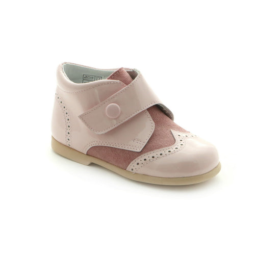Pink Combo Leather girls shoe (SS-7022) - SIMPLY SHOES HONG KONG