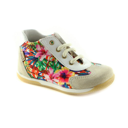 Colorful Combo Leather girls sneaker (SS-7027)