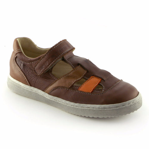 Brown Combo Leather Boys Sandal ( SS-8005) - SIMPLY SHOES HONG KONG